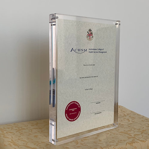 A4 Clear Certificate Holders- $90.80 each