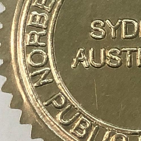 Metallic Gold Embossed Seal