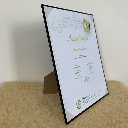 "8.5"" x 11"" Premium Certificate Frame- from $8 each"