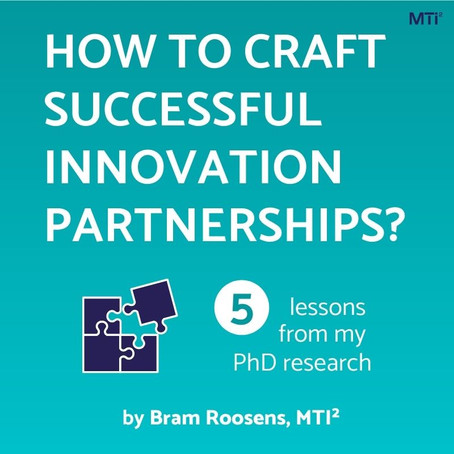 How to craft successful innovation partnerships: Five lessons from my PhD research