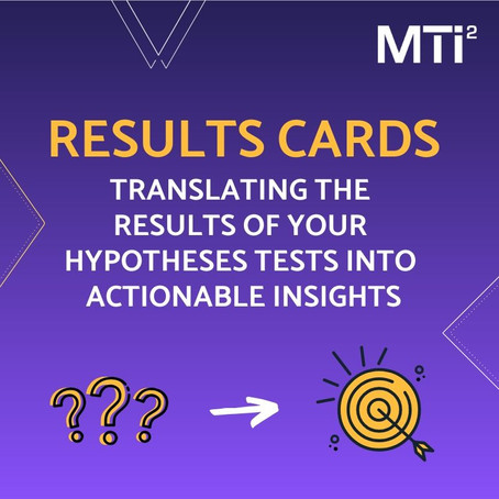Results cards: Translating the results of your hypotheses tests into actionable insights
