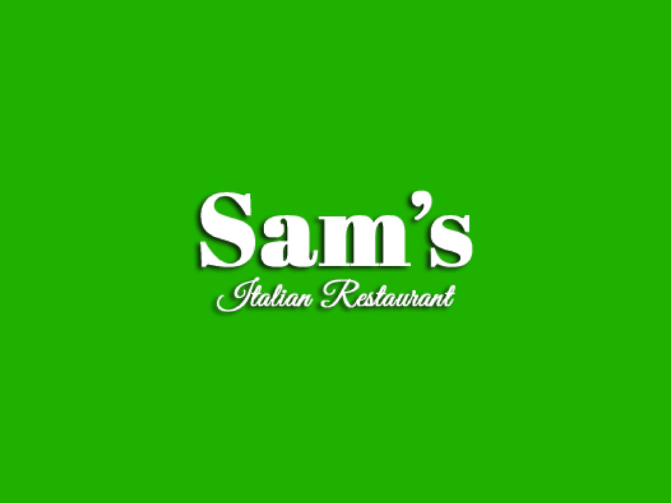 A gift certificate from Sam's Restaurant