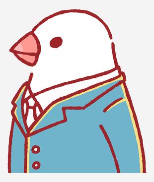 擬人白文鳥