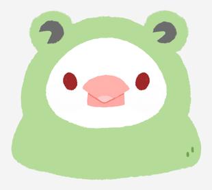 文鳥動物裝-青蛙