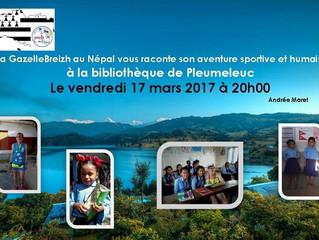 Vendredi 17 mars: Andrée Maret raconte son aventure au Népal