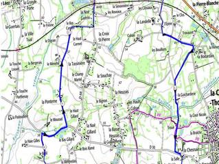 Circuit du dimanche 23 février 2020. Attention: départ en ligne pour 14kms.
