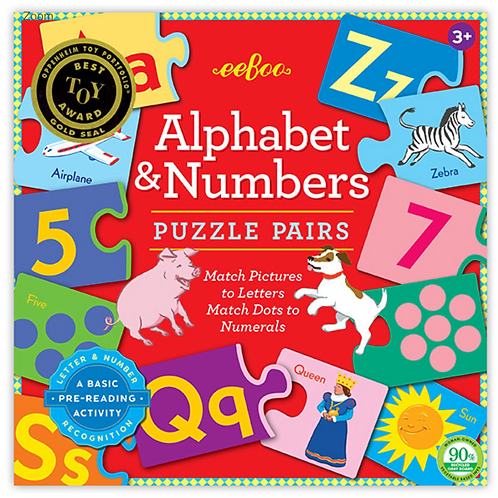 Alphabet and Numbers Pairs