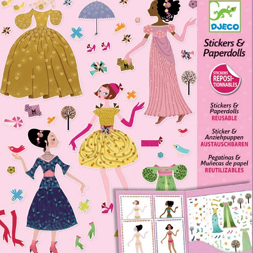 Dresses Through the Season Paper Dolls and Stickers