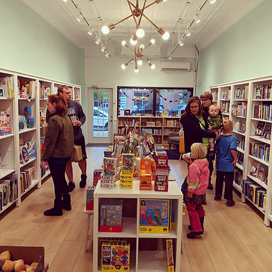 Bookstore with families