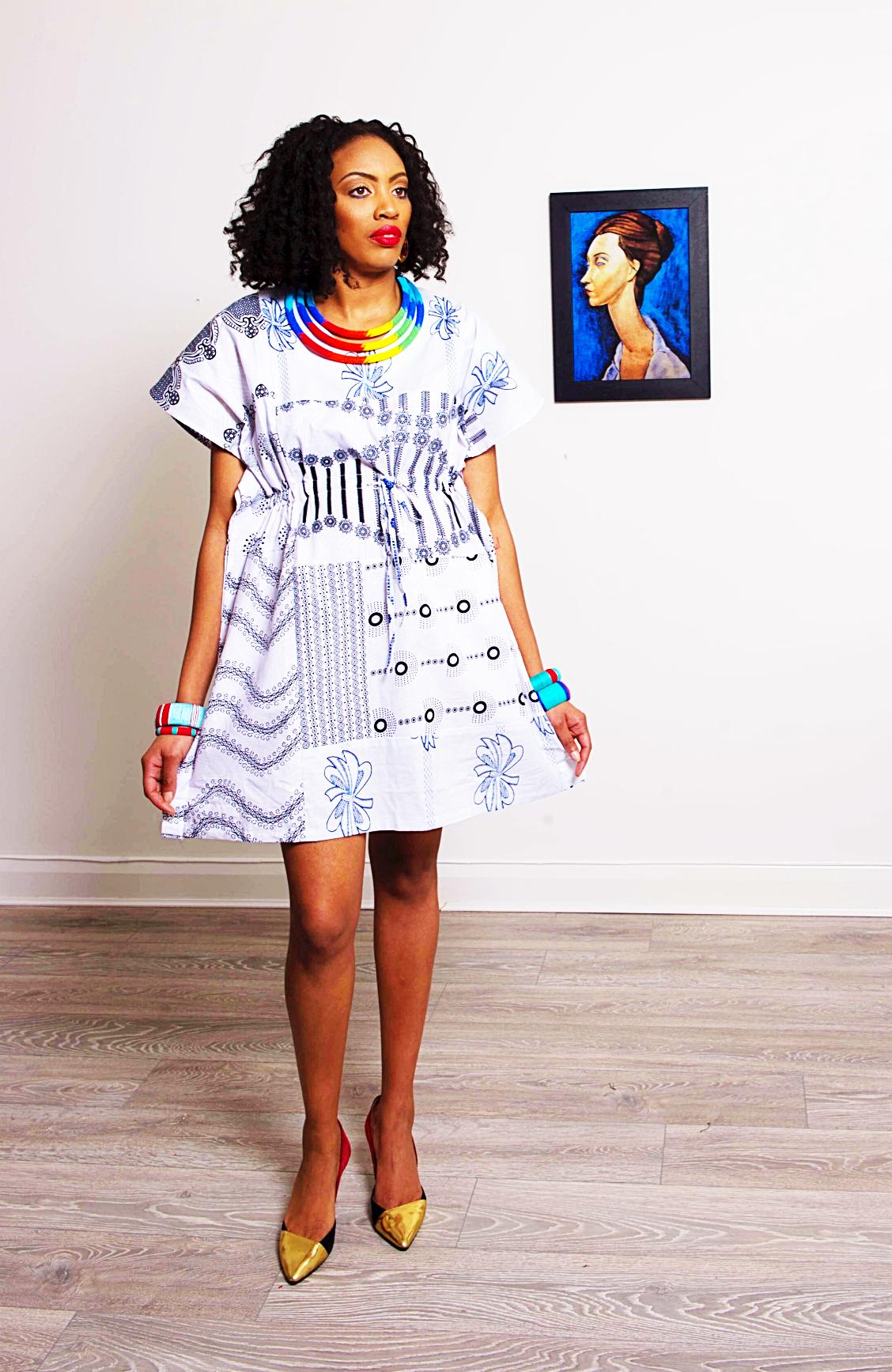dcd652801e4 Carrie white Ankara dress | SosoMe