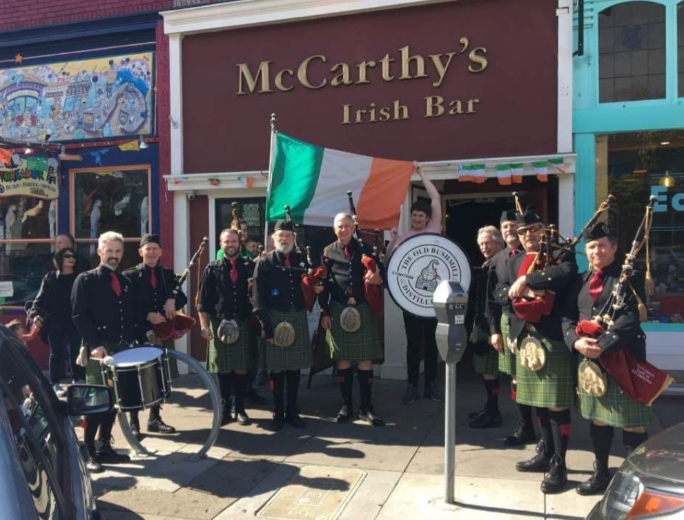 Bagpipes on St Paddy's Day