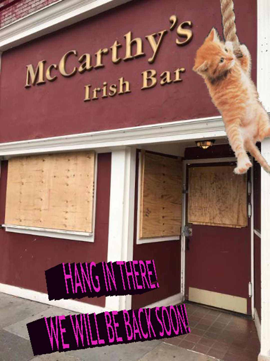Mccarthy's Will be back