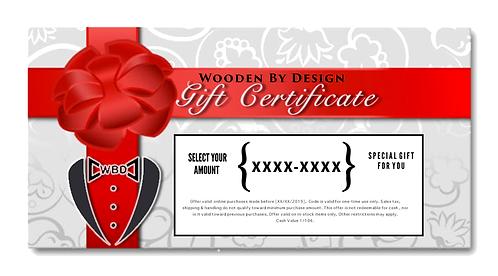 WBD Digital Gift Certificate $50