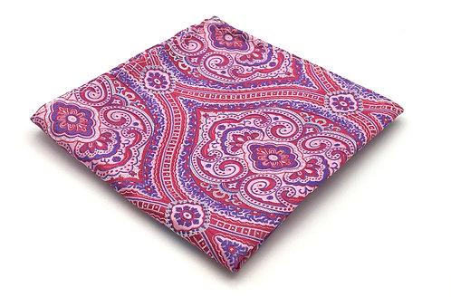 Pink, Fuchsia and Purple Woven Paisley