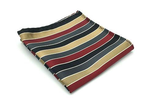 Copper, Black, Burgundy and Charcoal Multi-Color Stripe