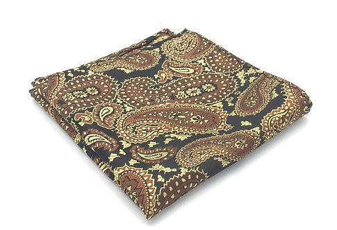 Brown, Black and Honey Beige Woven Paisley