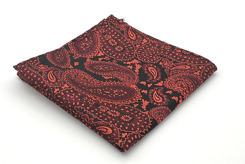 Red, Black and Crimson Woven Paisley