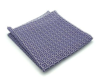 Purple and White Cross Geometric