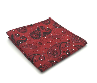 Red and Black Woven Paisley