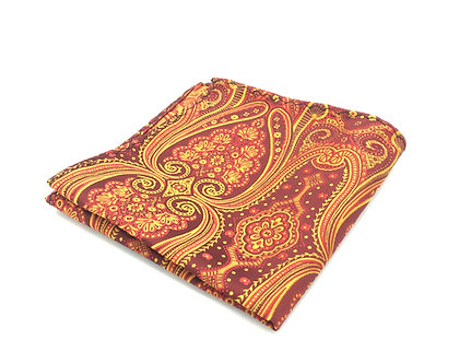 Wine, Red and Golden Yellow Paisley