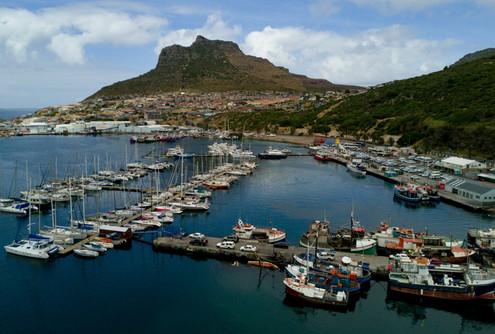 Fischereihafen in Südafrika