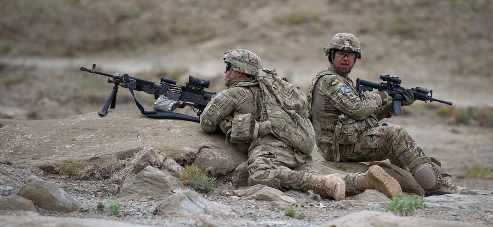 Sicherung einer Patrouille