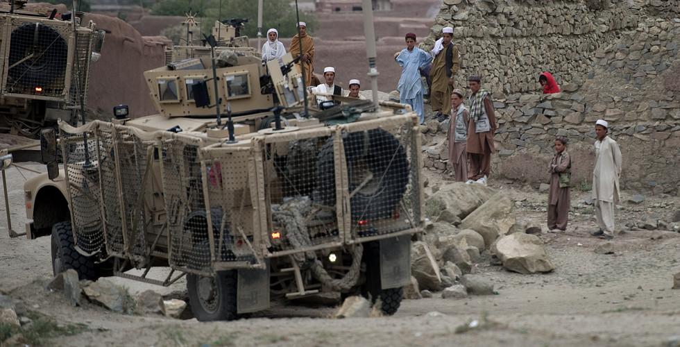 Patrouillenfahrt in der Provinz Paktika