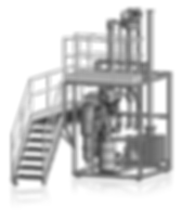 Planta de pirólise Bioware em escala piloto