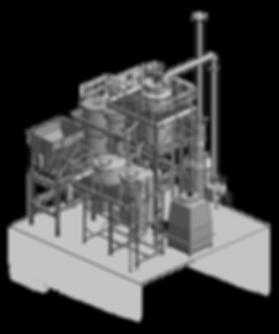Planta de pirólise Bioware em escala industrial