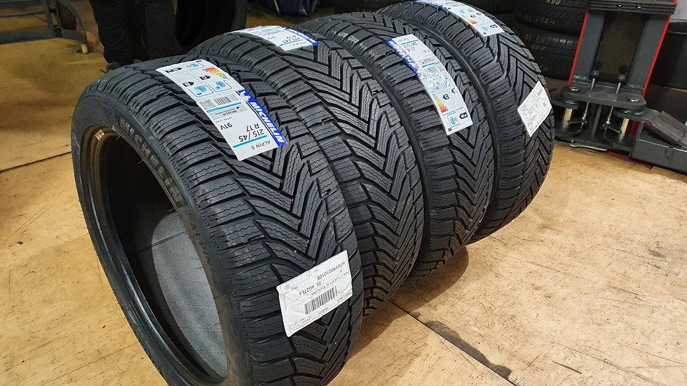 4Stk. Michelin Alpin 6 215/45R17 91V Winterreifen