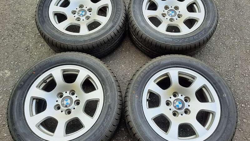 BMW 5er Original Alufelgen mit Neu 225/55ZR16 99W XL, Sailun Atrezzo, Sommerreif