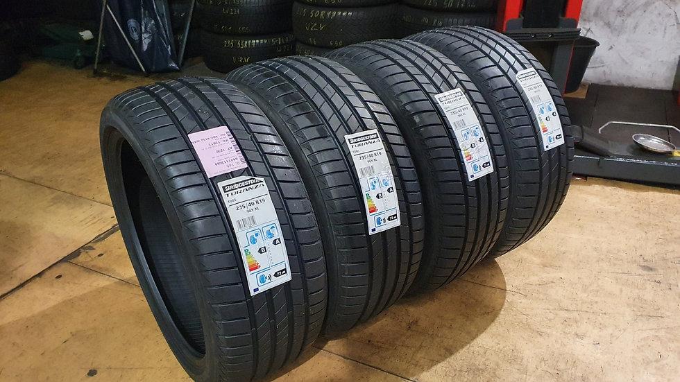 4 Stk. Bridgestone Turanza T005 235/40R19 96Y XL