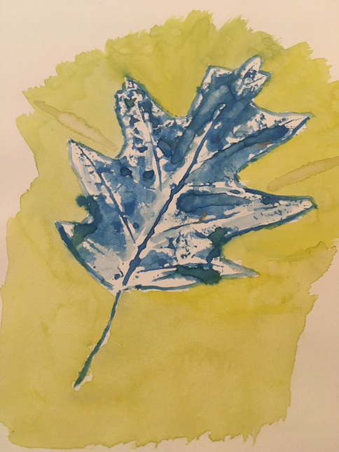 Leaf Painting by M