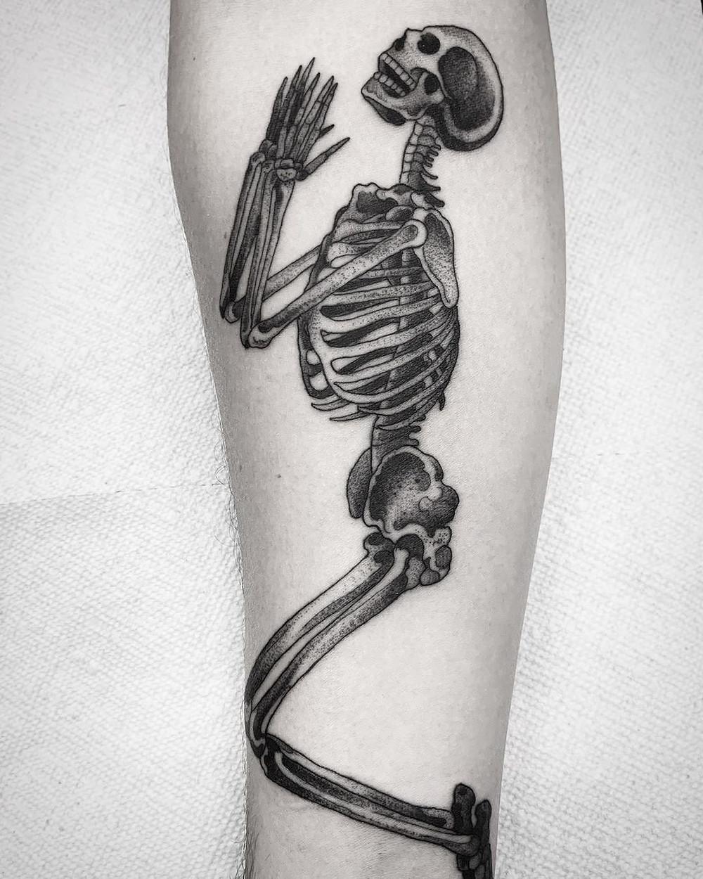 Skeletons need skincare, too.