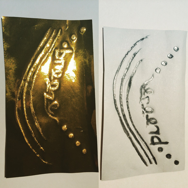 Antique Foil Art by Sweet Small Something