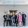 The best tattoo artists in California are pictured in front of Paper Crane Studio in Long Beach.