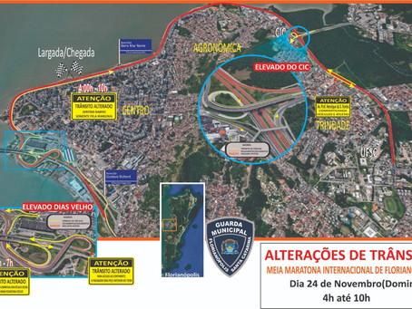 Alterações no Trânsito na Meia Maratona de Florianópolis