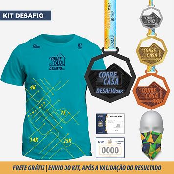 kit atleta corrida virtual 2020 corre em casa desafio 25k corre brasil