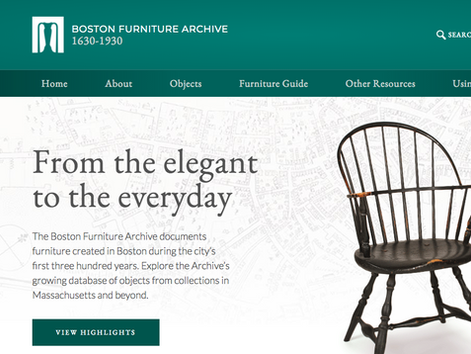 Boston Furniture Archive Field Research