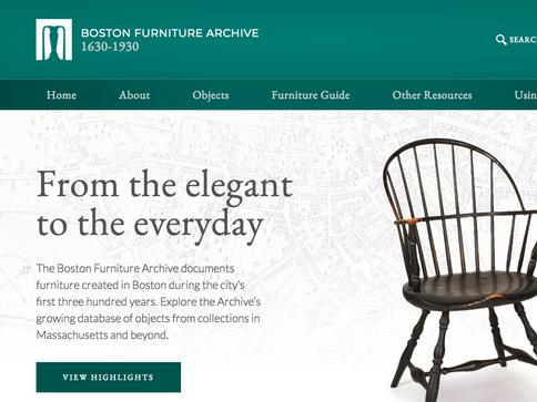 Boston Furniture Archive Field Research