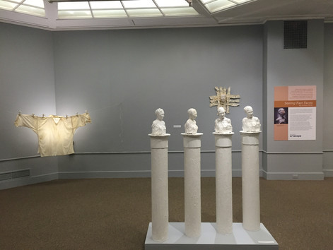 """Seeing Past Faces: Sculpture by Artist-in-Residence Carolyn Wirth"" at Fruitlands Museum"