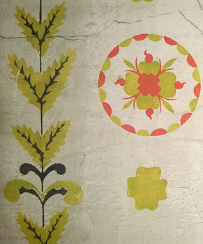 Stencil Decoration in Cleveland House in Naples, New York