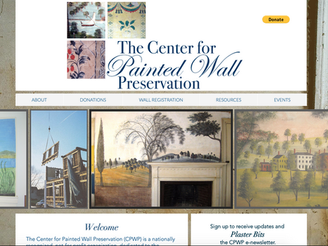 Logo and Website for the Center for Painted Wall Preservation