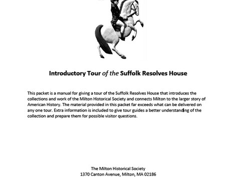 Suffolk Resolves House Tour Manual