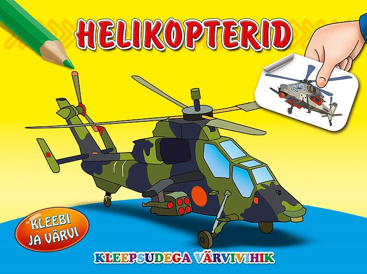 Helikopterid. Kleebi ja värvi
