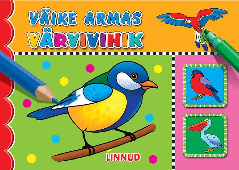Linnud. Väike armas värvivihik