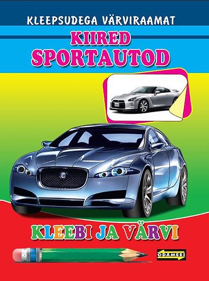 Kiired sportautod. Kleebi ja värvi