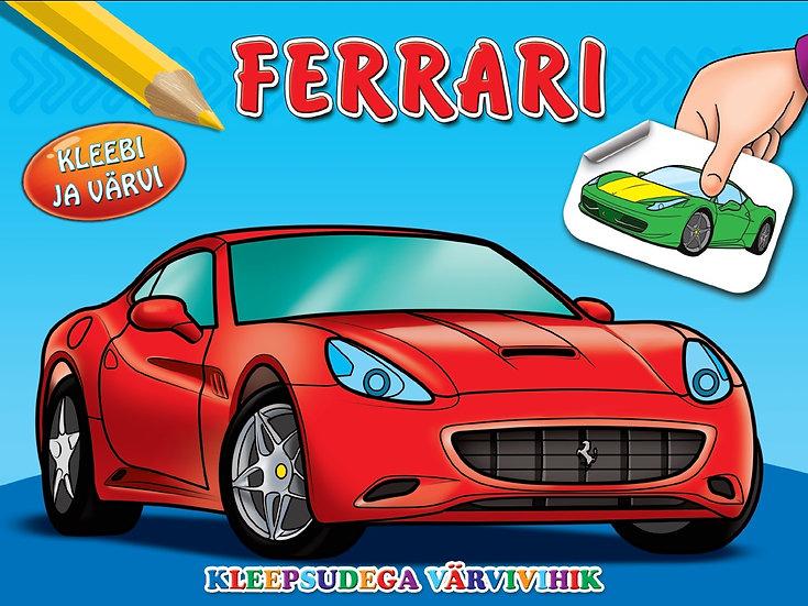 Ferrari. Kleebi ja värvi