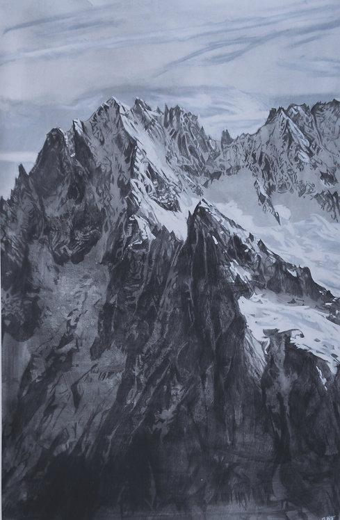 Aiguille Verte - limited edition archival print