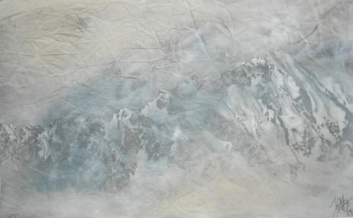 One Half (hand painted print 5)